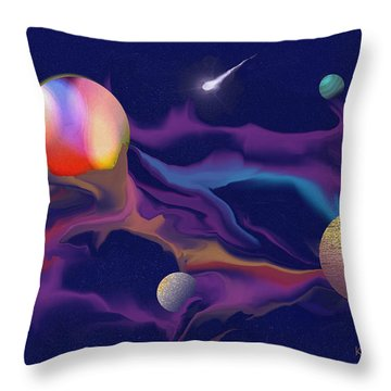 Exotic Worlds 2 Throw Pillow by Kae Cheatham