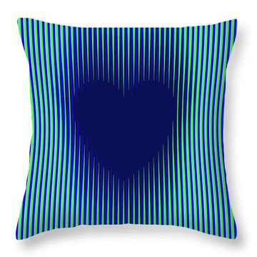 Expanding Heart 2 Throw Pillow