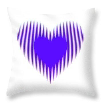 Expanding - Shrinking Heart Throw Pillow