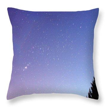 Expanding Sky Throw Pillow