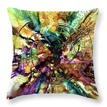 Expanding Universe Throw Pillow by Alika Kumar