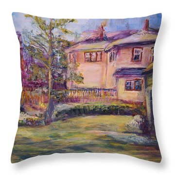Upstairs Window Throw Pillow