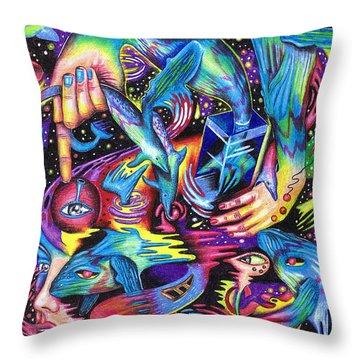 Expansive Dynamics Of The Subconscious Throw Pillow
