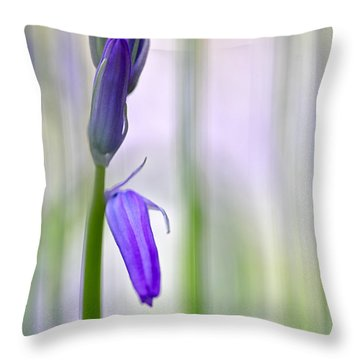 Expecting Bluebell Throw Pillow