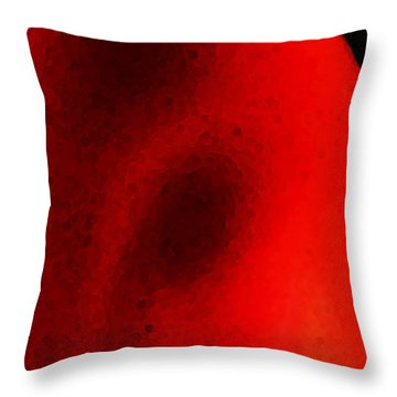 Experiment 2 Red White Black Throw Pillow by Sharon Cummings