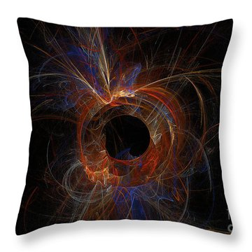 Experiment 9 Throw Pillow by Geraldine DeBoer