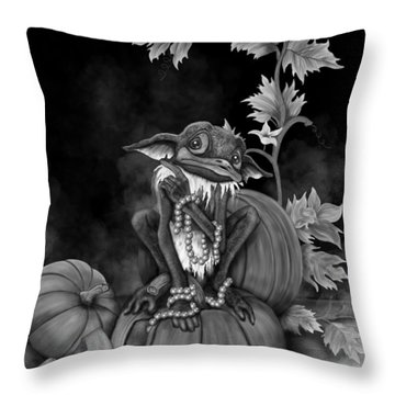 Explain Yourself - Black And White Fantasy Art Throw Pillow