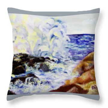 Throw Pillow featuring the painting Explode by Saundra Johnson