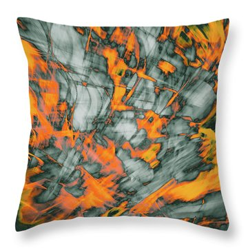 Exploded Fall Leaf Abstract Throw Pillow