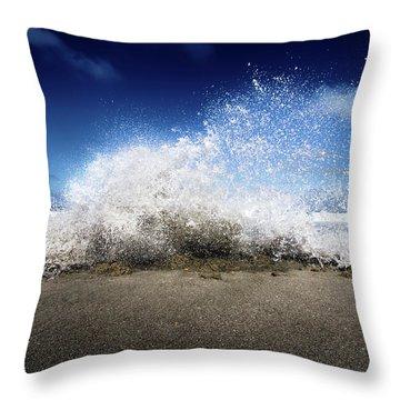 Exploding Seas Throw Pillow by Mark Andrew Thomas