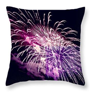 Exploding Stars Throw Pillow