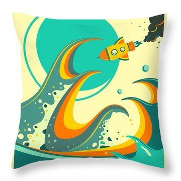 Wave Throw Pillows