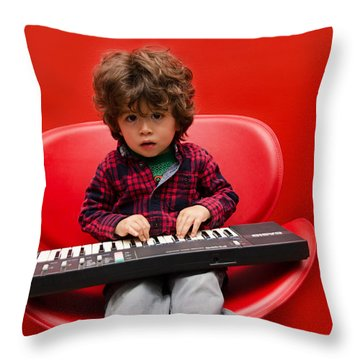 Exploring Piano Throw Pillow