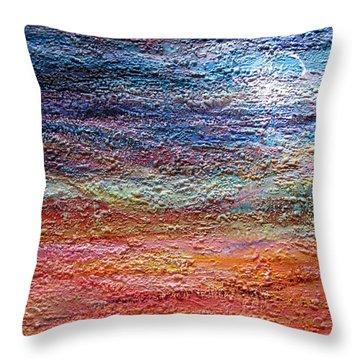 Exploring The Surface Throw Pillow by Roberta Rotunda