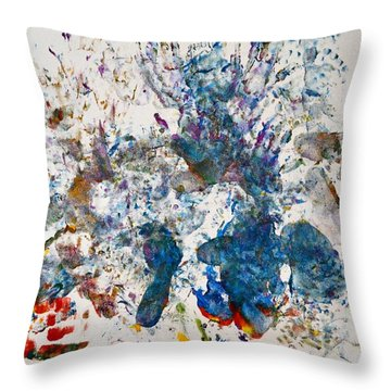 Explosion At The Macaroni Factory Throw Pillow