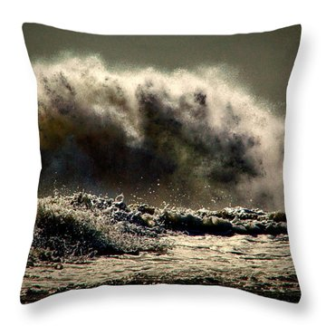 Explosion In The Ocean Throw Pillow