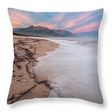 Explosion Of Colors On The Beach Throw Pillow