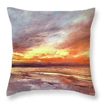 Explosion Of Light Throw Pillow