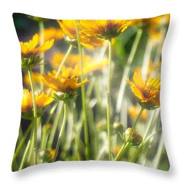 Explosion Of Yellow Throw Pillow