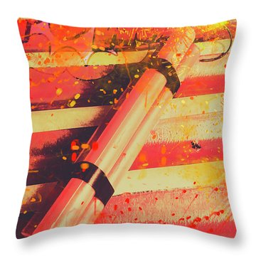 Explosive Comic Art Throw Pillow