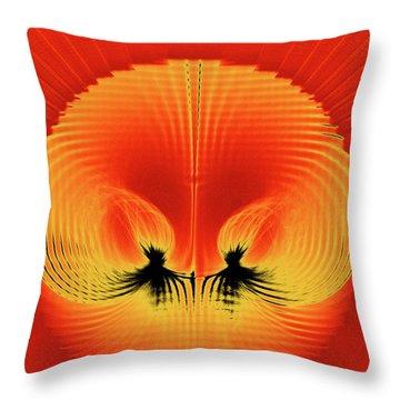 Explosive Eruption Throw Pillow