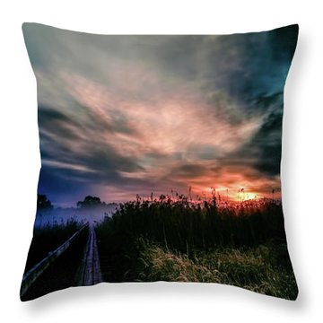 Explosive Morning #h0 Throw Pillow