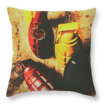 Explosive Ordnance Throw Pillow