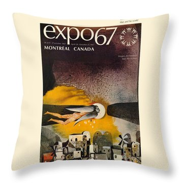 Expo 67 Throw Pillow by Andrew Fare