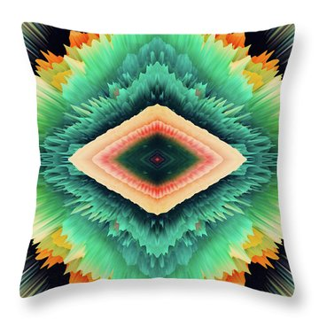 Throw Pillow featuring the photograph Exponential Flare by Colleen Taylor