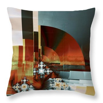 Throw Pillow featuring the digital art Exposition Internationale Paris by Richard Ortolano