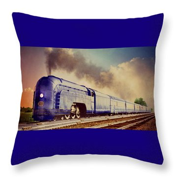 Express Throw Pillow by Steven Agius