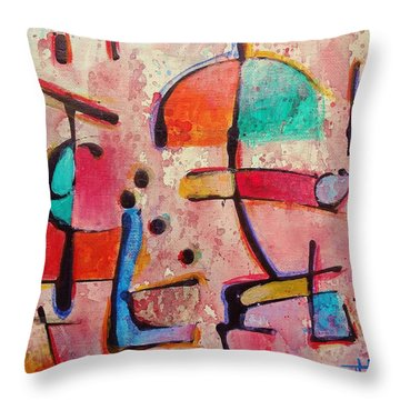 Expression # 12 Throw Pillow by Jason Williamson