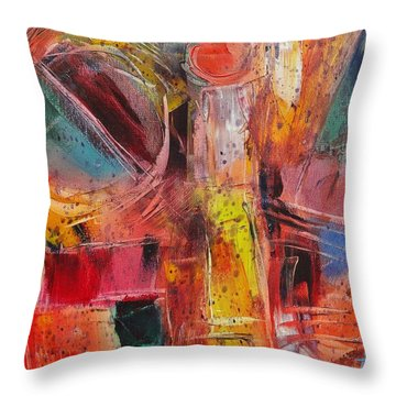 Expression # 8 Throw Pillow by Jason Williamson
