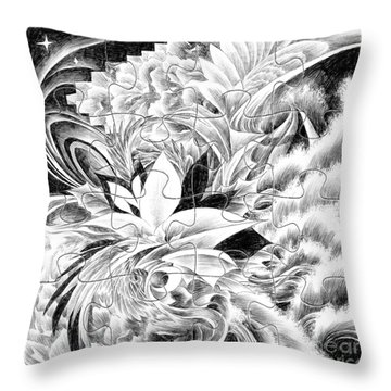 Expression - Heart Throw Pillow