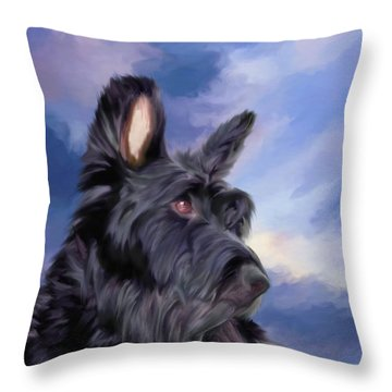 Expression Is Everything Scottish Terrier Dog Throw Pillow