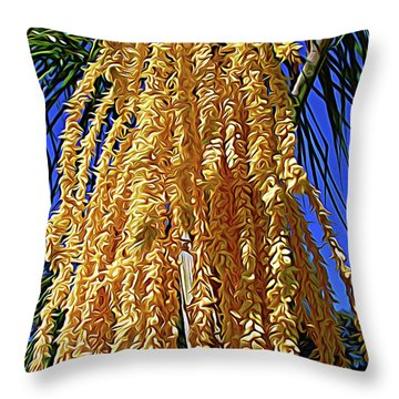 Throw Pillow featuring the photograph Expressionalism Cascading Seed Pod by Aimee L Maher Photography and Art Visit ALMGallerydotcom