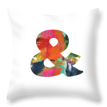 Expressionist Ampersand-monogram Art By Linda Woods Throw Pillow