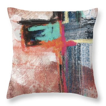 Expressionist Cross 5- Art By Linda Woods Throw Pillow