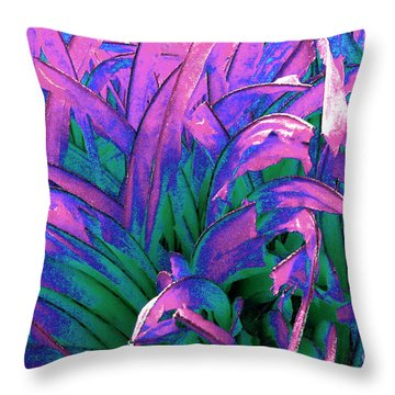 Throw Pillow featuring the painting Expressive Abstract Grass Series A1 by Mas Art Studio
