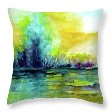 Expressive Throw Pillow by Allison Ashton