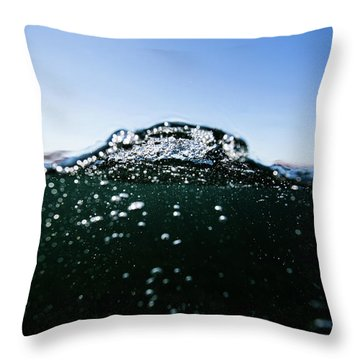 Expressive Water Throw Pillow
