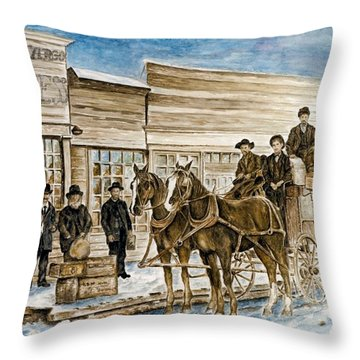 Expressly Western Throw Pillow