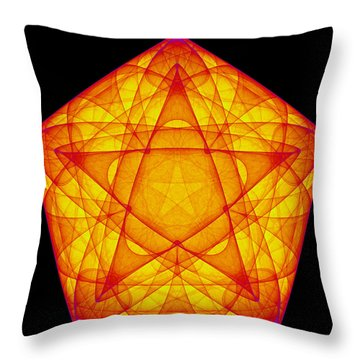 Throw Pillow featuring the digital art Exprograce by Andrew Kotlinski