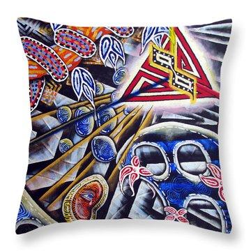 Expulsion Throw Pillow by Luke Galutia