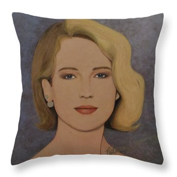 Exquisite - Jennifer Lawrence Throw Pillow