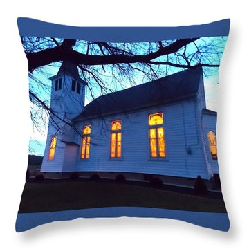Exterior Church Evening Throw Pillow