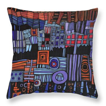 Exterior Facade Throw Pillow by Sandra Church
