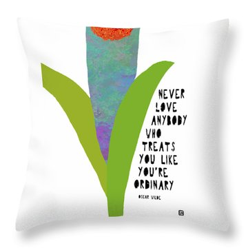 Throw Pillow featuring the painting Extraordinary Love by Lisa Weedn