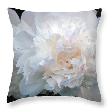 Extravagant Peony Throw Pillow