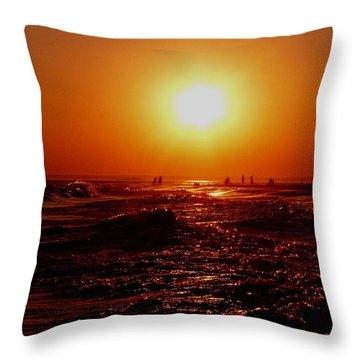 Extreme Blazing Sun Throw Pillow by Kendall Eutemey